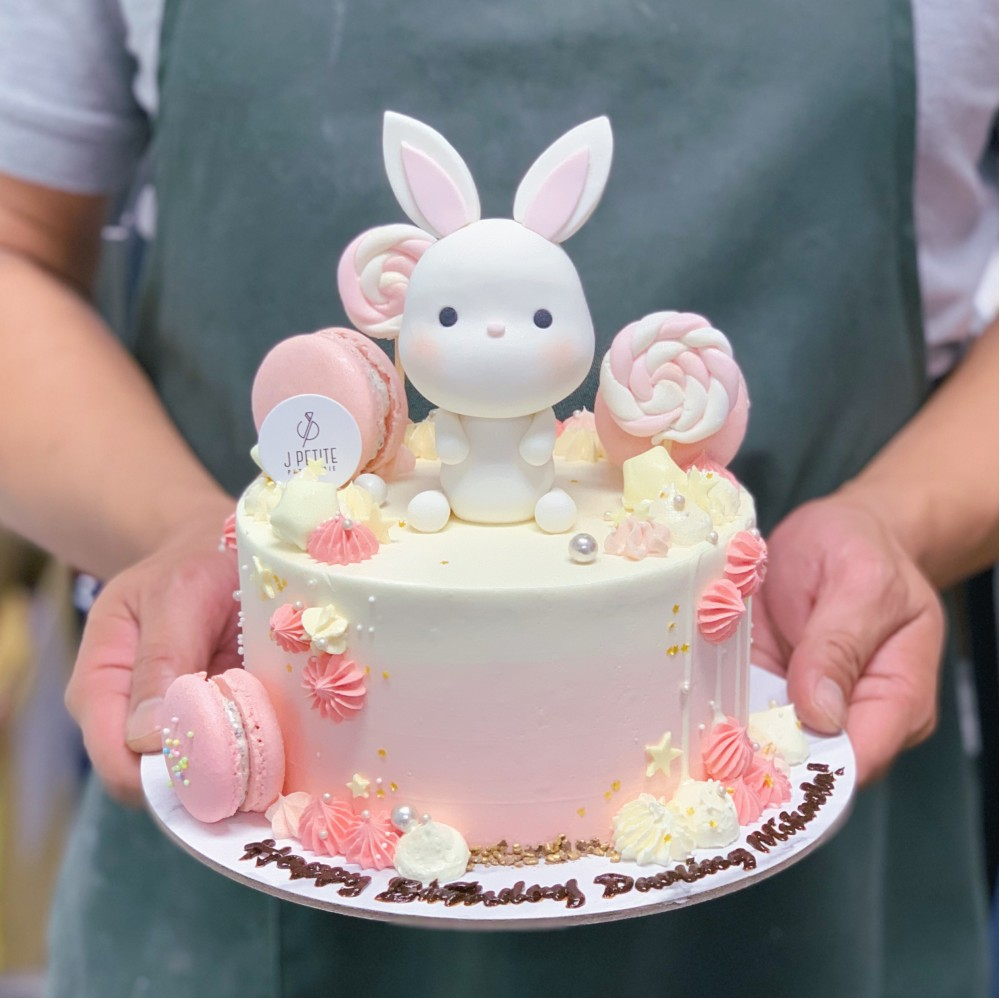 Pastel Candyland with Bunny Cake