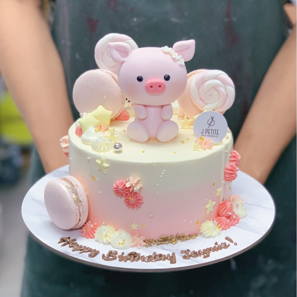 Pastel Candyland with Piggy Cake