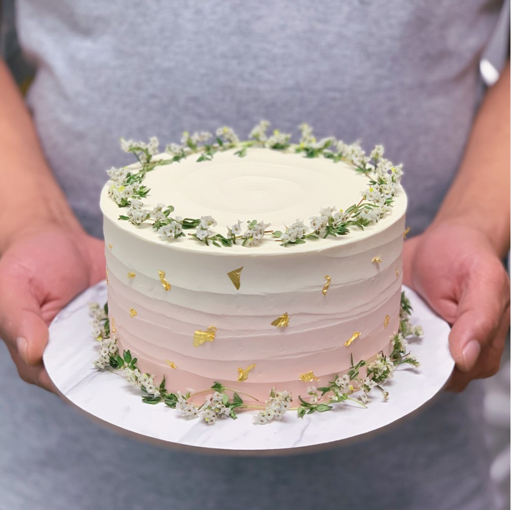 Sweet Rustic Ombre Cake