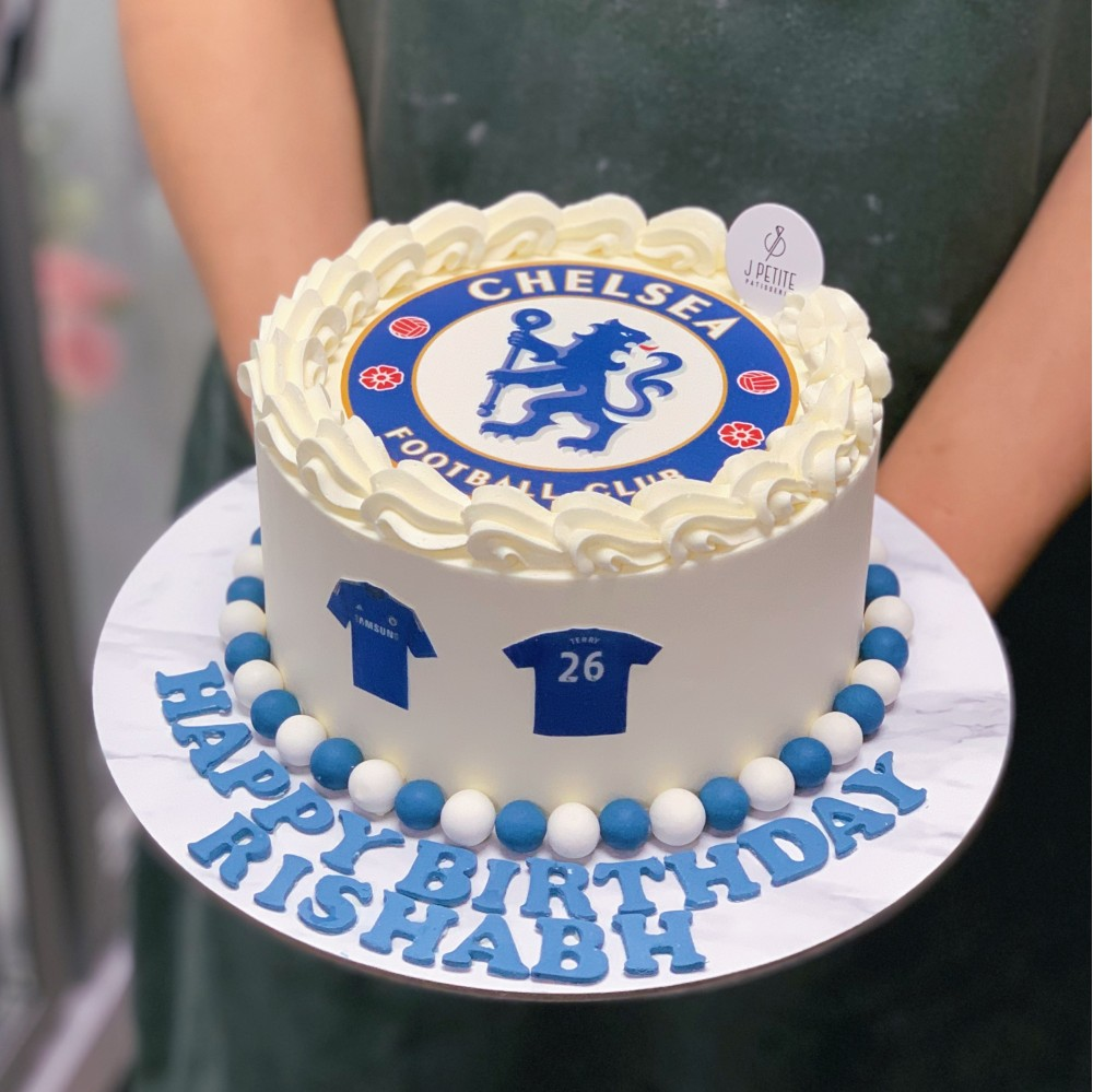 Chelsea Soccer Club Themed Cake