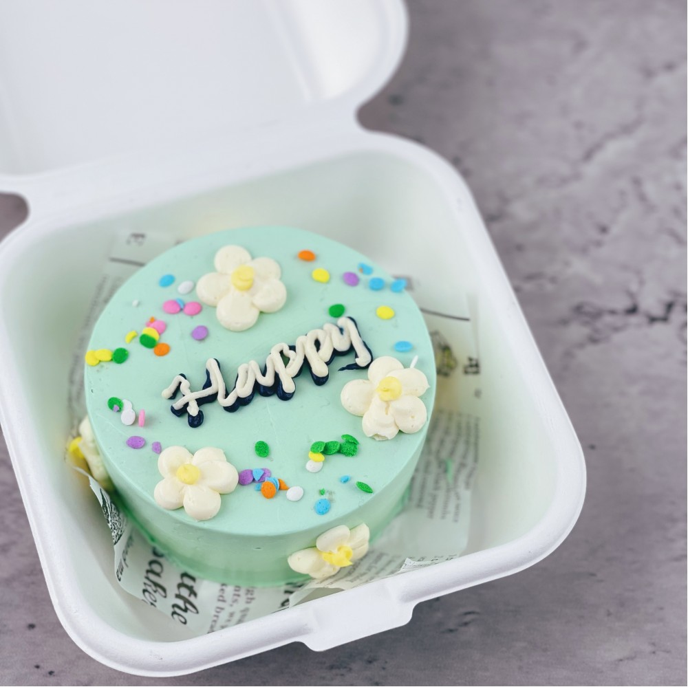 Floral Sprinkles Korean Bento Cake