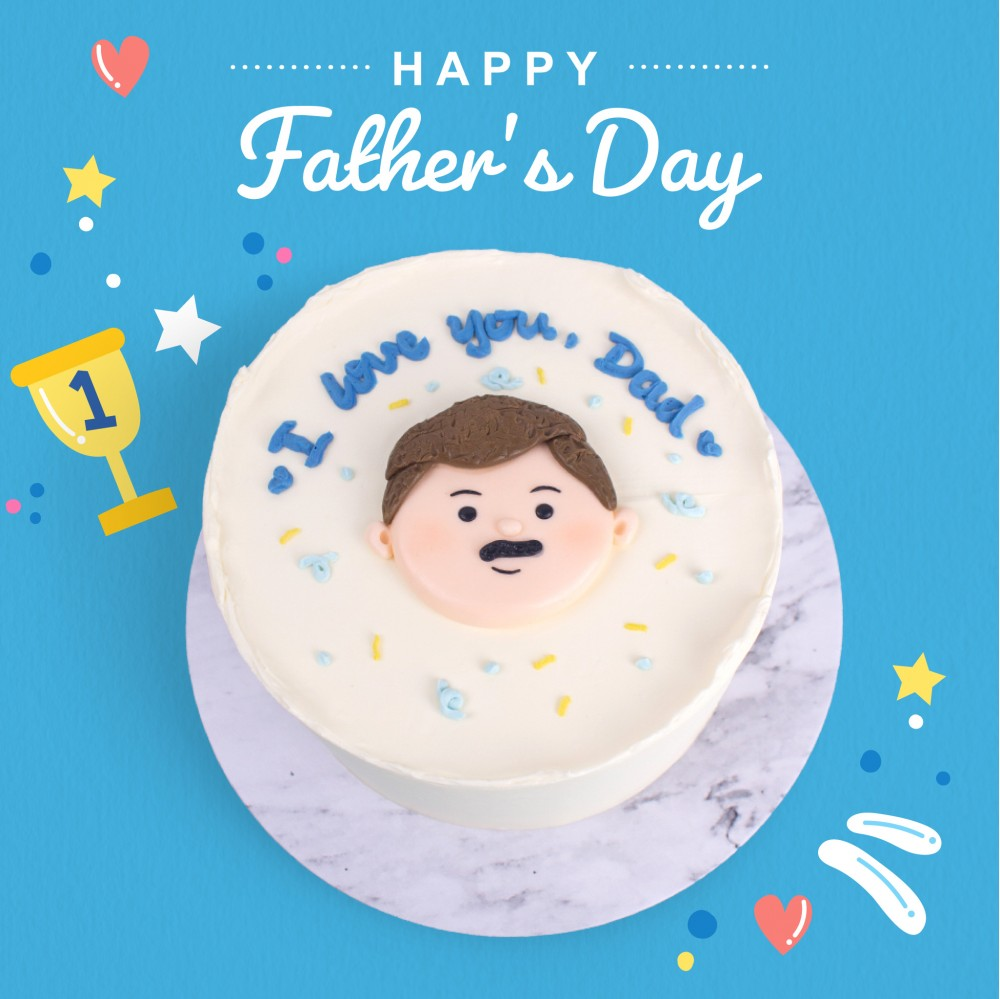 I Love You, Dad Message Cake - Father's Day Specials