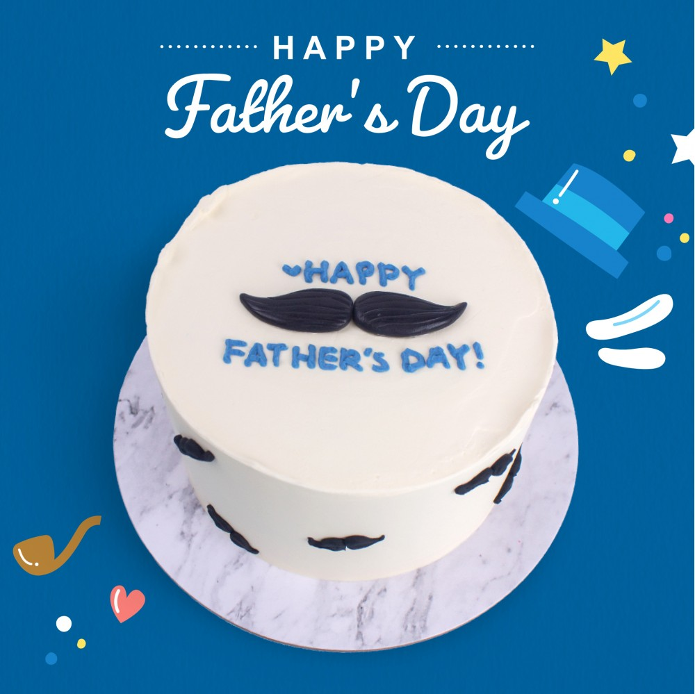 Moustache Message Cake - Father's Day Specials