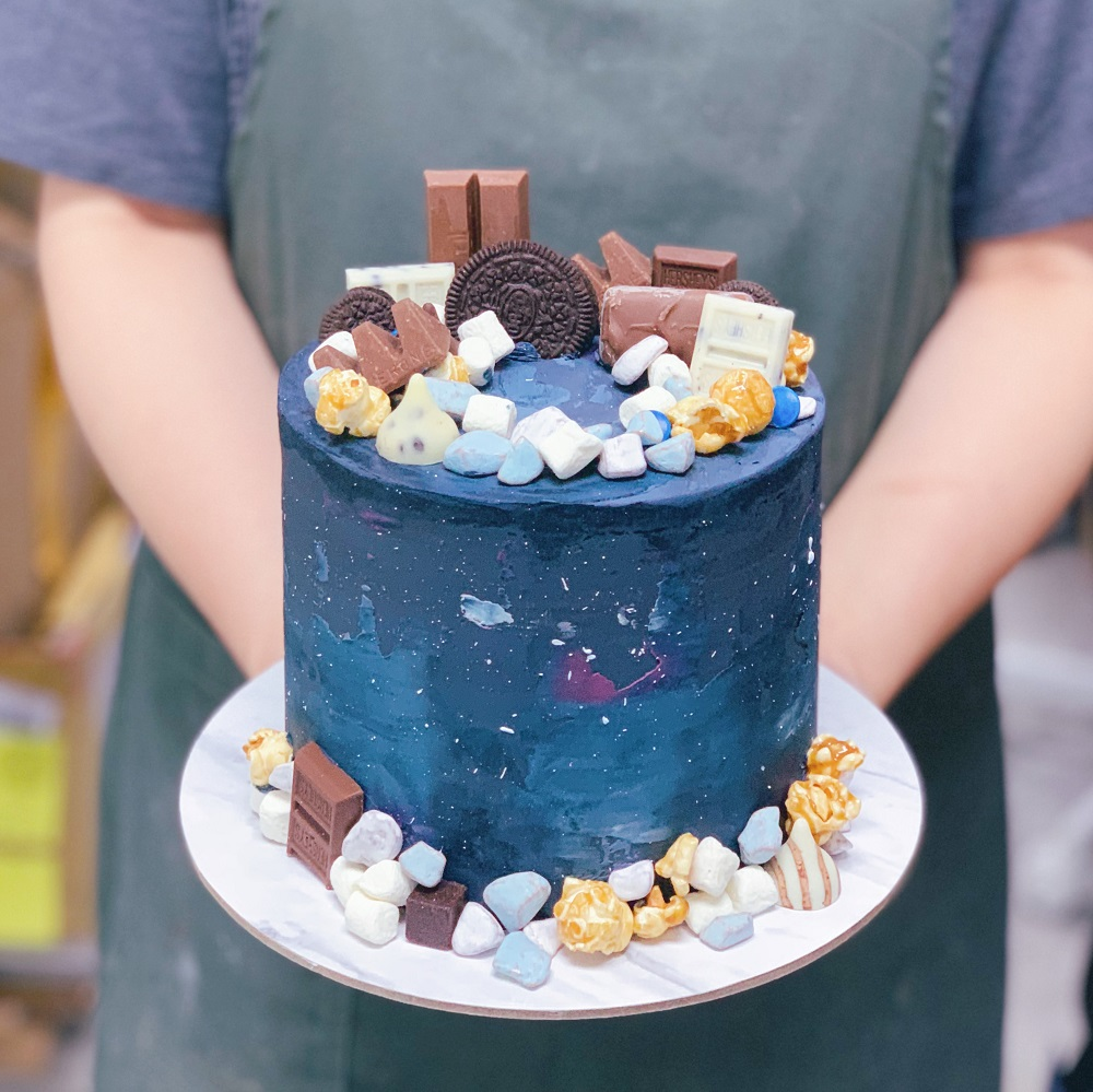 Galaxy Cake with Toppings