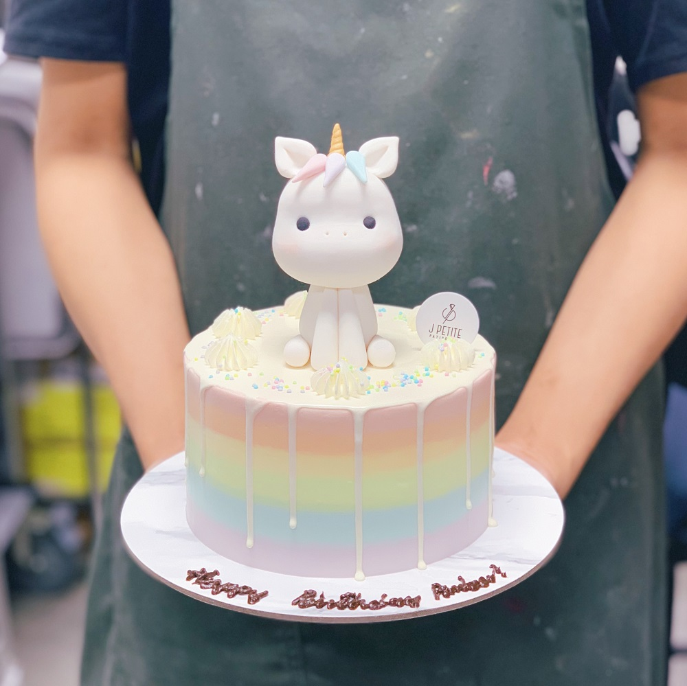 Pastel Rainbow with Unicorn Drip Cake