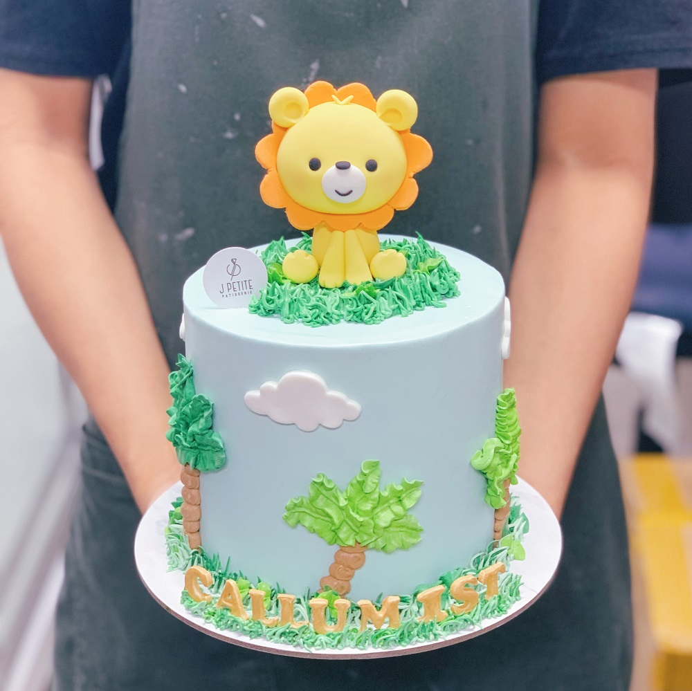 Lion and Palm Trees Cake