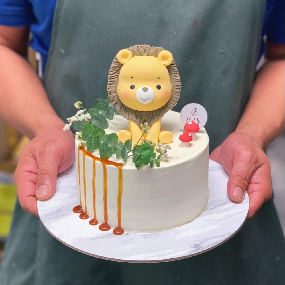 Rustic Lion Cake