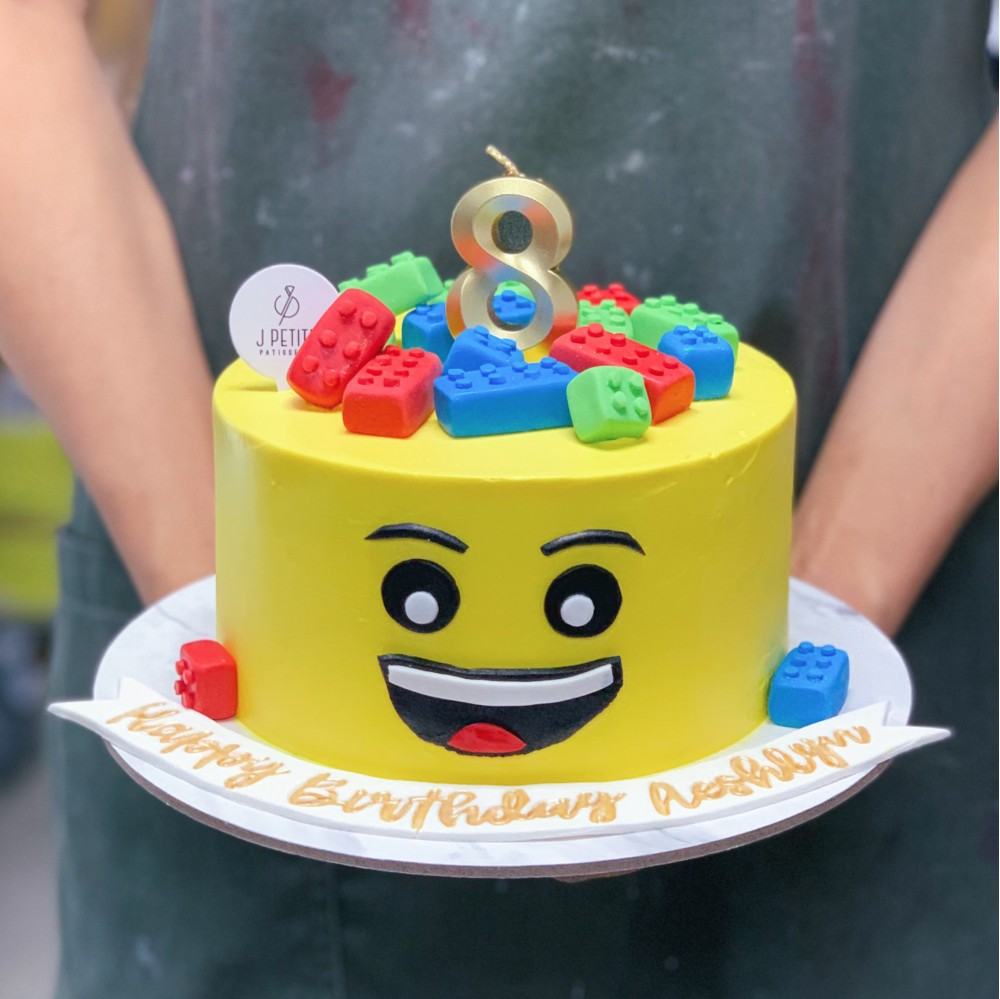 LEGO Face Cake