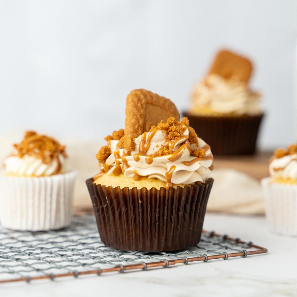 Speculoos Cookie Cupcakes